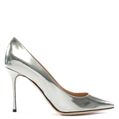 silver metallic high heel shoes sergio godiva silver metallic suede high heel court