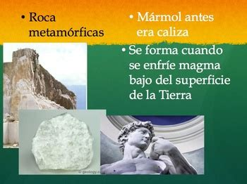rocks in spanish the rock cycle and three types of rocks spanish powerpoint