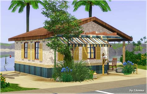 Mod The Sims   The Water Drop   tiny beach cabin (10x10