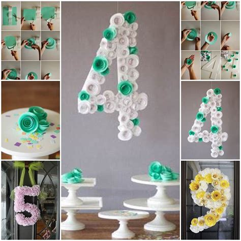 diy decoration cool creativity diy spiral flower number party decoration