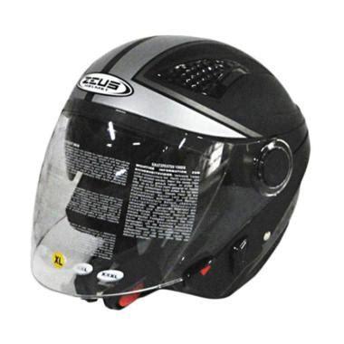 Helm Zeus Zs 610 Ungu jual zeus zs 610 0017 helm half black silver harga kualitas terjamin blibli