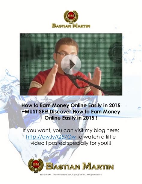 How To Make Money Online 2015 - how to earn money online easily in 2015 must see discover how to ea
