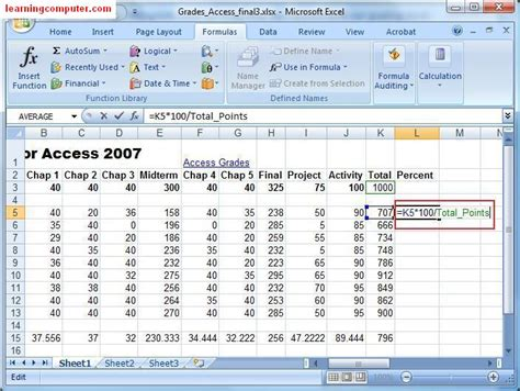 excel tutorial how to calculate percentages microsoft excel formulas tab tutorial learn ms excel 2007