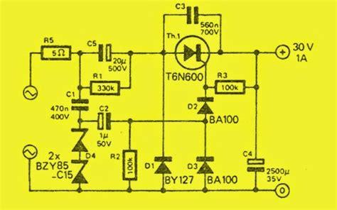 transformerless power supply for led transformer less