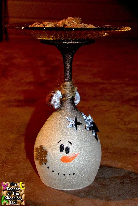 1000 ideas about christmas wine glasses on pinterest