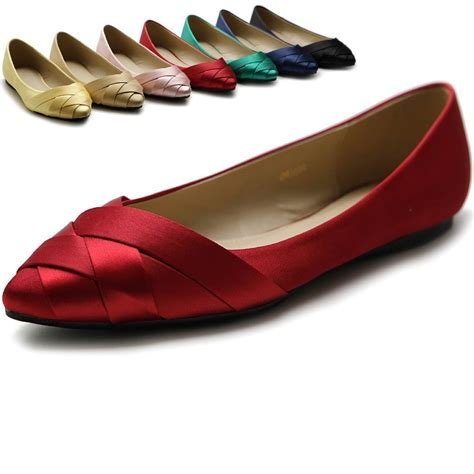best flat shoes for flat ollio s shoe ballet weave pointed toe dress flat ebay