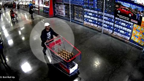 costco hennessey theft caught  video  man takes