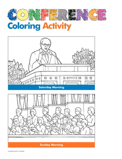 conference coloring pages lds conference coloring activity friend