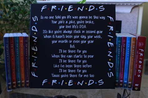 theme song to friends friends tv show canvas i ll be there for you theme song