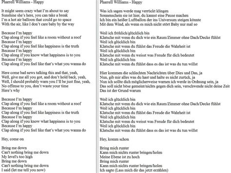 my lyrics williams pharrell williams happy german translation lyrics