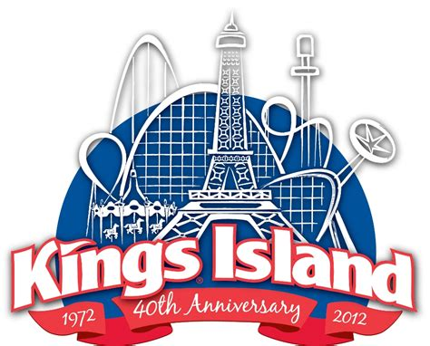 printable kings island tickets kings island unveils 40th anniversary logo 171 amusement today