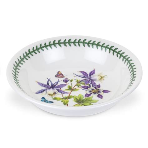 Portmeirion Botanic Garden Pasta Bowls Portmeirion Botanic Garden Medium Low Pasta Serving Bowl With Dragonfly Motif