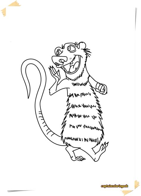 Coloring Page 15 by Crafting Opossum Coloring Page 15 Possum 2b 2528opossum