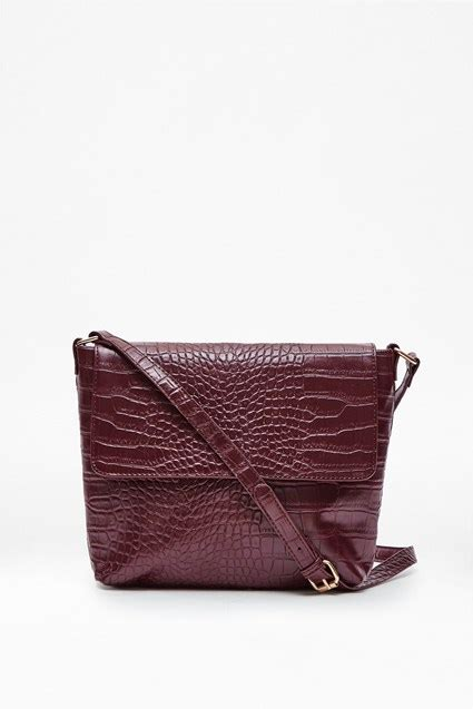 Croco Boxy Rotelli Shoulder Bag callie croc shoulder bag accessories great plains