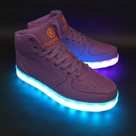 light up game shoes game changer high purple flashgear