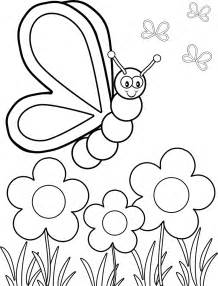 butterfly coloring pages preschool coloring