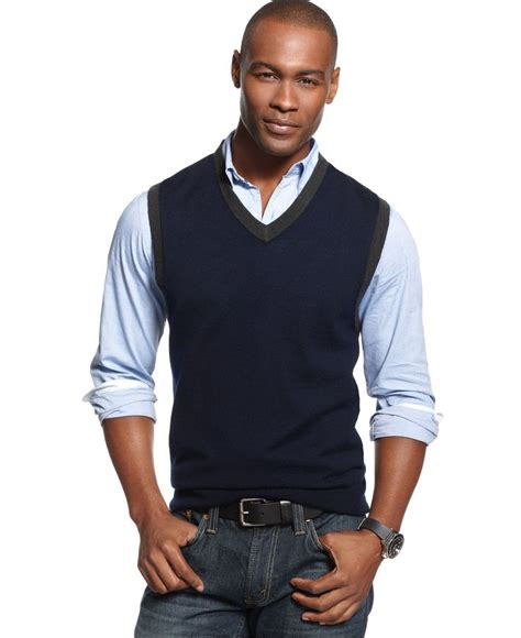 V Neck Contrast Trim Vest 25 best ideas about mens sweater vest on knit
