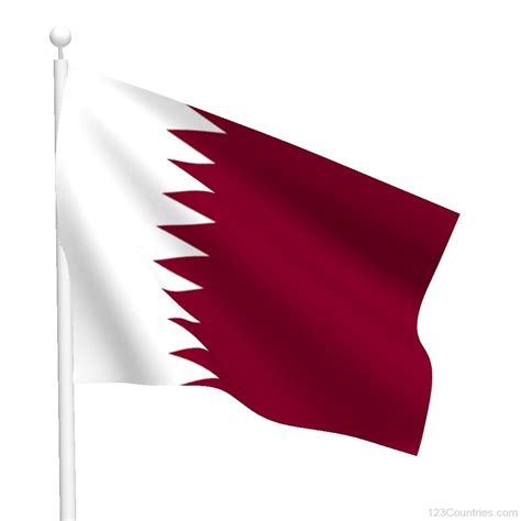 picture of national flag of qatar 123countries