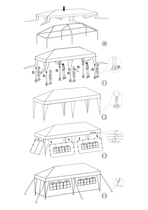 aleko awning installation instructions aleko 20 x 10 tent for outdoor party