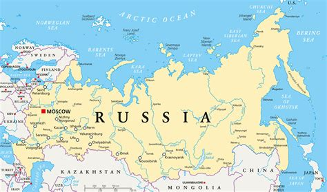 map of russia with cities and rivers map of russia guide of the world