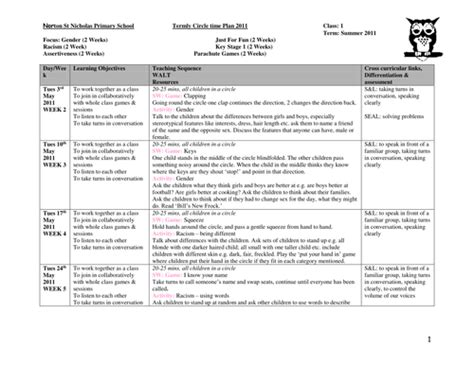 lesson plan template year 1 termly circle time plans year 1 by miss wilson teaching