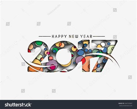 happy new year element vector design happy new year 2017 text design stock vector 504735007