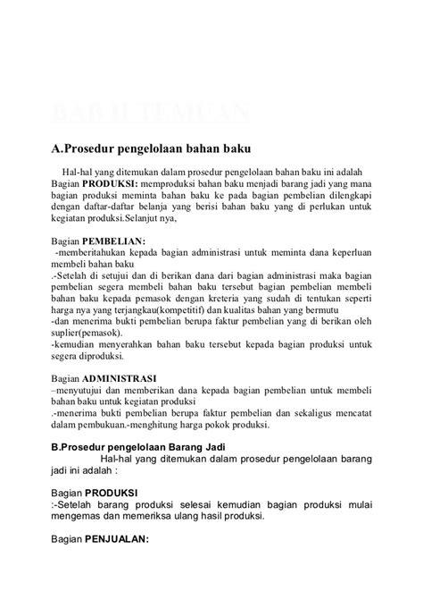 Hosing A B Bahan Nya Bagus Dan Kualitas Oke 1 laporan usaha manufaktur quot pengolahan bahan baku dan barang
