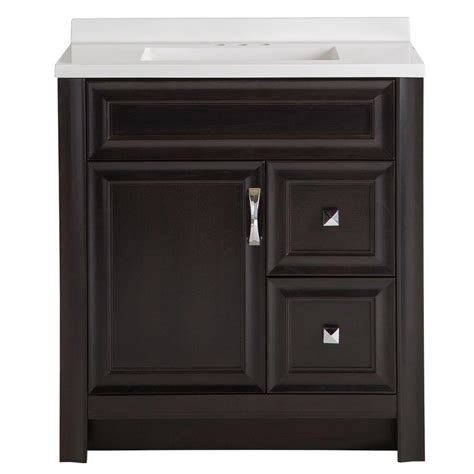 30 x 18 bathroom vanity tops glacier bay candlesby 30 1 2 in w x 18 3 4 in d bath vanity in charcoal with ab