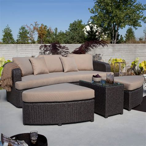 patio sectional set 25 awesome modern brown all weather outdoor patio sectionals