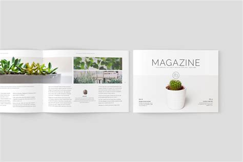 Multipurpose Landscape Magazine Adobe Indesign Template Indesign Landscape Template