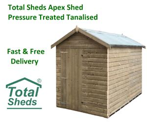 total sheds apex top quality pressure treated tanalised