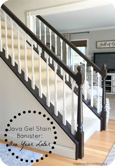 jave gel stained banister one year update