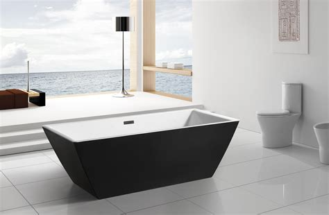 black freestanding bathtub modern black acrylic freestanding 71 quot square bathroom