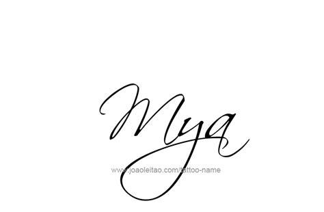 mya name tattoo designs