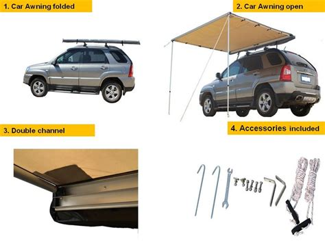 side awnings for 4wds 4x4 offroad outdoor cing retractable side awning color