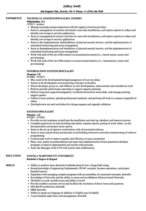 Signal Support Systems Specialist Cover Letter by Health System Specialist Sle Resume Chef Cover Letter Exle Of A News Letter