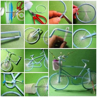How To Make A Bike Out Of Paper - diy amazing daisies made from straws
