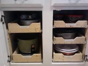 Sliding Drawers For Kitchen Cabinets Diy Sliding Shelves In Kitchen Cabinets Projects In Kitchen Sliding Shelves And