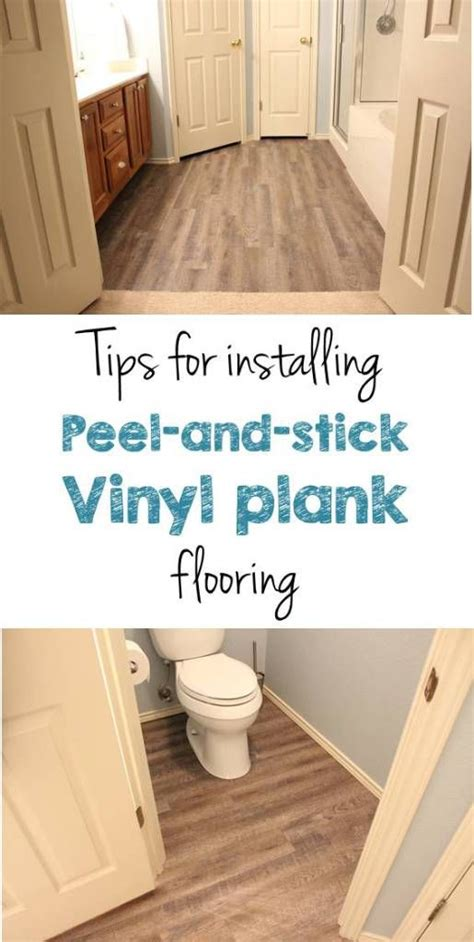 How To Install Peel And Stick Wood Flooring by Peel And Stick Vinyl Plank Flooring Diy Vinyls Bye Bye