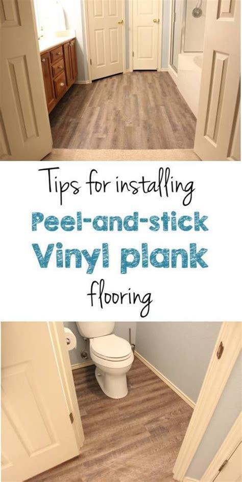 Peel and Stick Vinyl Plank Flooring DIY   Vinyls, Bye bye