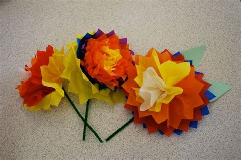 Flowers Out Of Tissue Paper And Pipe Cleaners - pin by dapto church on flowers plants nature
