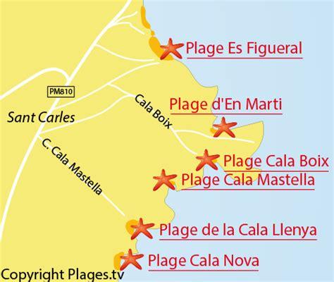 0004488962 carte touristique ibiza and plage de la cala llenya 224 santa eularia des riu ibiza
