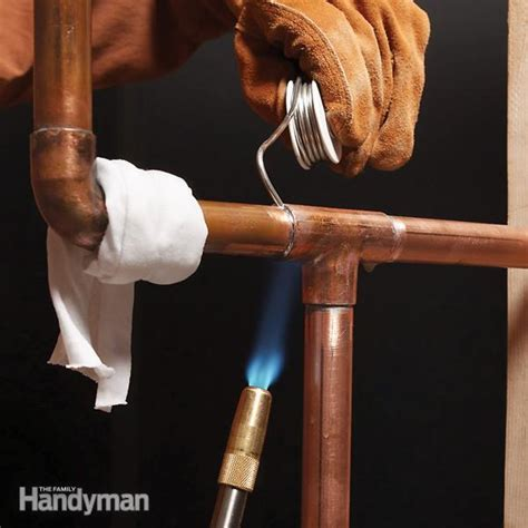 How To Solder Plumbing Copper Pipe by Soldering Copper Pipe The Family Handyman