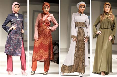 Baju Atasan Dari Negara Singapura kreasi busana muslim bahan batik