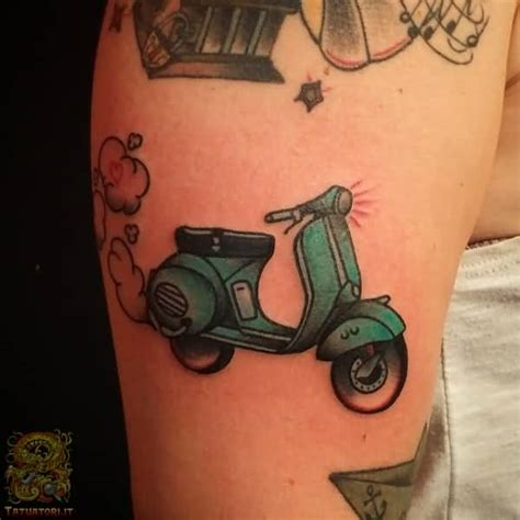 scooter tattoos 40 best vespa scooter tattoos