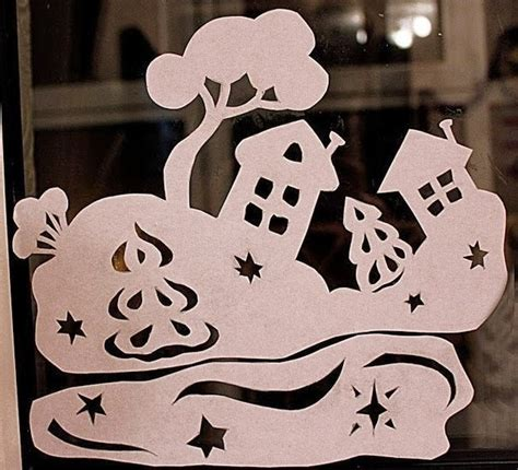 Christmas Window Stickers Templates Diy Craft Projects Window Decal Template