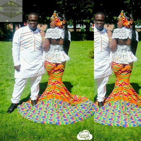 traditional ghana kente styles in engagement i do ghana kente and styling it emmanuel pamela s