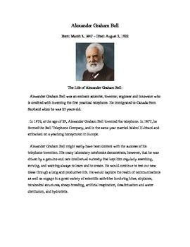 alexander graham bell biography worksheet lesson plans for grade six science earth science success