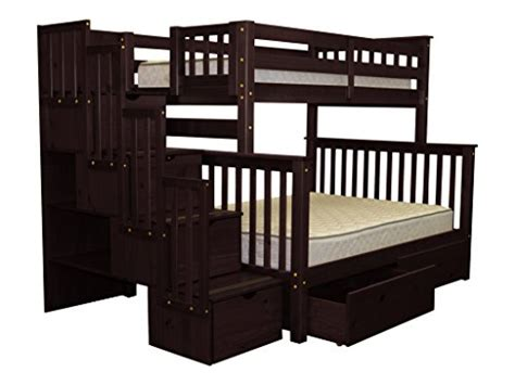 Bedz King Stairway Bunk Bed Bedz King Stairway Bunk Beds With 4 Drawers In The Steps And 2 Bed Drawers