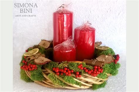 centrotavola natale con candele centrotavola natalizio con candele centerpiece